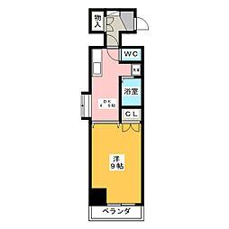 ラヴィアン名駅[8階]の間取り