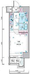 JR総武線 浅草橋駅 徒歩5分の賃貸マンション 6階1Kの間取り