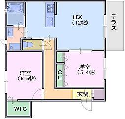 シャーメゾン二階堂[1階]の間取り