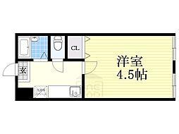 土佐堀東マンション[318号室]の間取り