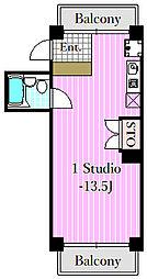 シティハイツ2[5階]の間取り