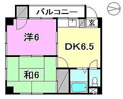 メロディーハイツ久万ノ台[402 号室号室]の間取り