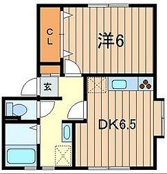 ヴェルテス五番館[1階]の間取り