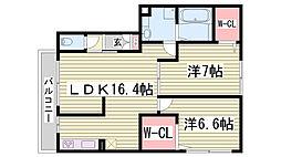 栖III[1階]の間取り