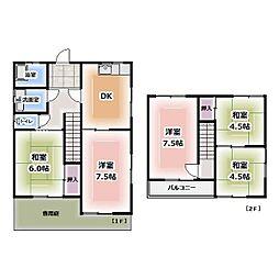 [一戸建] 愛知県北名古屋市弥勒寺西1丁目 の賃貸【/】の間取り