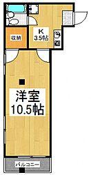 館野ビル[3階]の間取り