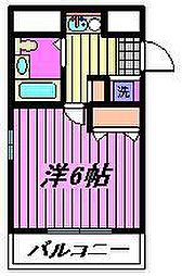 フレグランスWARABI[205号室]の間取り