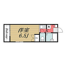 京成本線 公津の杜駅 徒歩23分の賃貸アパート 1階1Kの間取り
