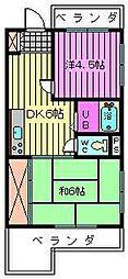 蓮見第3マンション[1階]の間取り