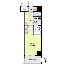 RESIDENCIA MARUNOUCHI NORTH 8階1Kの間取り