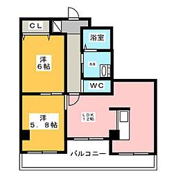 シティイトウビル[4階]の間取り