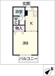 ハイツエクセル B棟[2階]の間取り