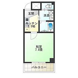 TOYOTOMI STAY PREMIUM NAGAHASHI 6階1Kの間取り