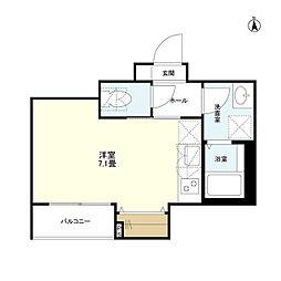 JR山手線 大塚駅 徒歩8分の賃貸マンション 2階ワンルームの間取り
