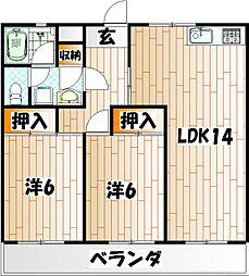 第二泉ヶ丘ビル[2階]の間取り