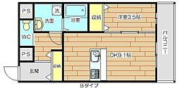 (仮称)上田辺マンション[2階]の間取り