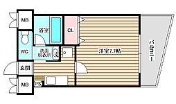 ル・プルミエ・シャピトゥル福島[6階]の間取り