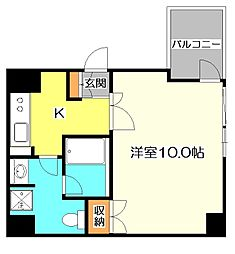 上水南アパートメント 4階1Kの間取り