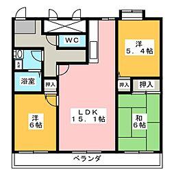 エクセレント京命[4階]の間取り