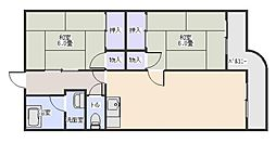 マンション大磯[1階]の間取り