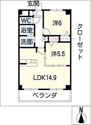 ソシア大口[2階]の間取り