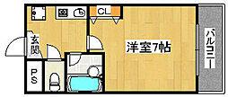 VIVE中之町[6階]の間取り