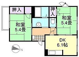 フレグランス福島B棟[2階]の間取り