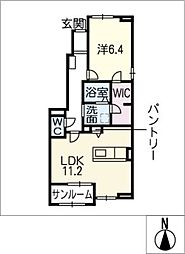 ウィステリア II[1階]の間取り