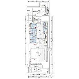 エステムコート名古屋新栄IIアリーナ 9階1Kの間取り