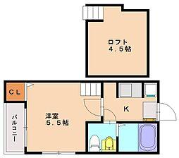 ベアーレ井尻[1階]の間取り