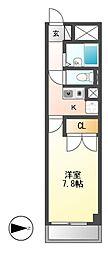 プレステージ高蔵公園[2階]の間取り