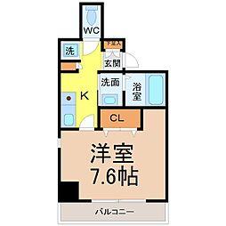 M'sHouse1(エムズハウス1)[301号室]の間取り