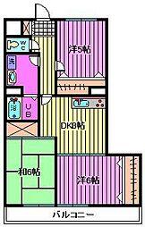 メゾンエビハラ[305号室]の間取り