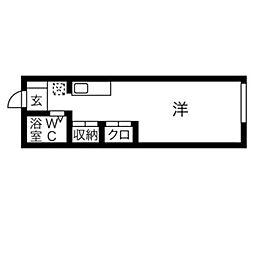 神奈川県秦野市若松町の賃貸アパートの間取り
