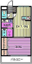 埼玉県さいたま市大宮区三橋1-の賃貸マンションの間取り