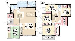 [一戸建] 兵庫県川西市湯山台2丁目 の賃貸【/】の間取り