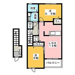 プラシードI・II[2階]の間取り