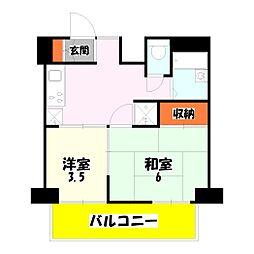 東京都足立区竹の塚3丁目の賃貸マンションの間取り