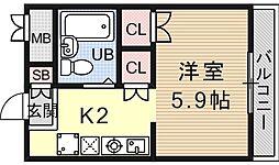 サンガーデン山科[106号室号室]の間取り