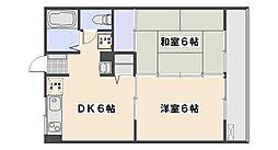 サニー旭園[1階]の間取り