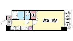 プレサンス神戸プレシャス[2階]の間取り