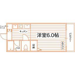 (仮称)南大沢駅学生マンション[201号室]の間取り