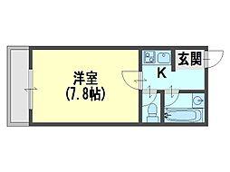 日吉ハイツ[2階]の間取り