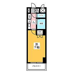 ハイツ亀島[4階]の間取り