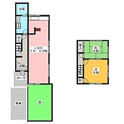 [一戸建] 愛知県名古屋市緑区亀が洞3丁目 の賃貸【/】の間取り