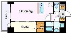 プレサンス錦通 THE 葵 2階1LDKの間取り