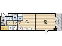 アクロス福島アーバンヒルズ 8階1DKの間取り