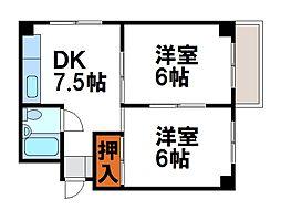 小沢コーポ[2階]の間取り