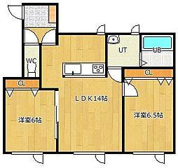 LIFE[2-D号室]の間取り