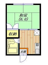 茨城県龍ケ崎市出し山町の賃貸アパートの間取り